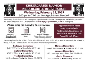 Kindergarten/Jr. K Registration Coming Soon
