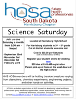 HOSA KICKS-OFF NEW YEAR OF SCIENCE SATURDAY'S