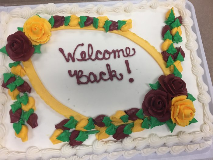 Welcome Back Cake.