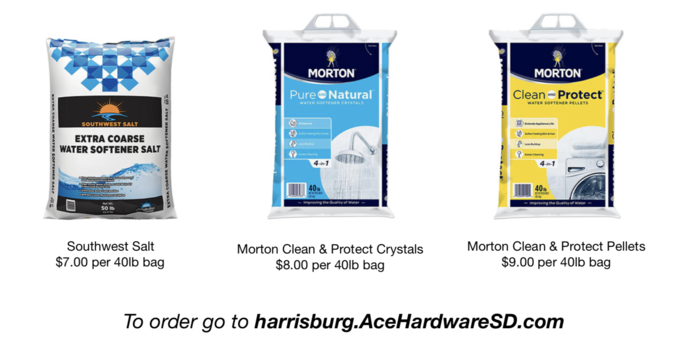 Softener salt bags