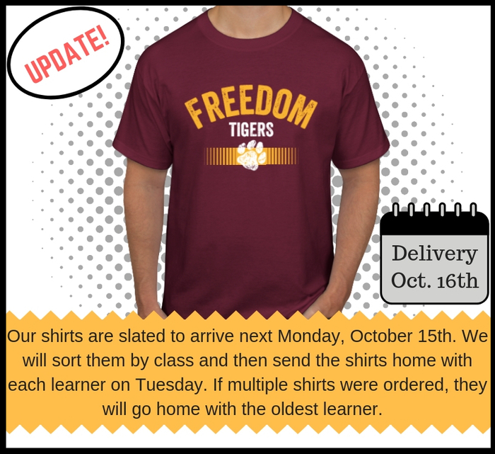 Freedom Shirt Delivery Update