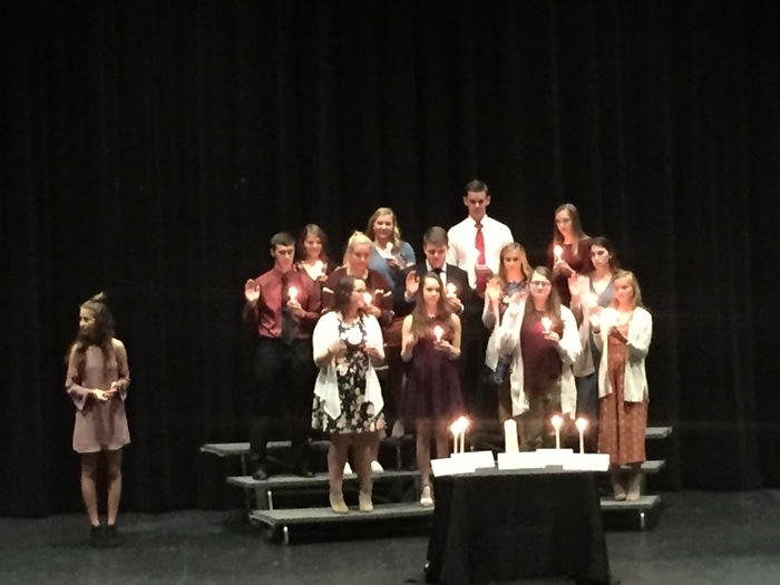 Inductees reciting the NHS pledge