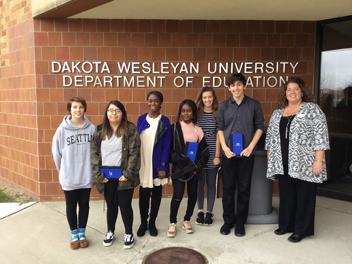 Educators Rising students visit to DWU.