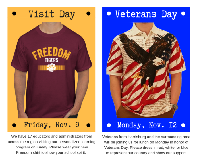 Upcoming Dress Up Days (Friday & Monday)