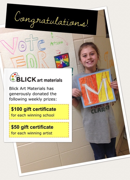 Maddyn is Artsonia's Artist of the Week!