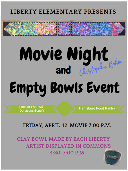 Empty Bows & Family Movie Night Flyer