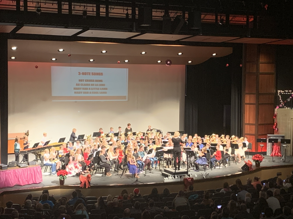 5th grade band performance.