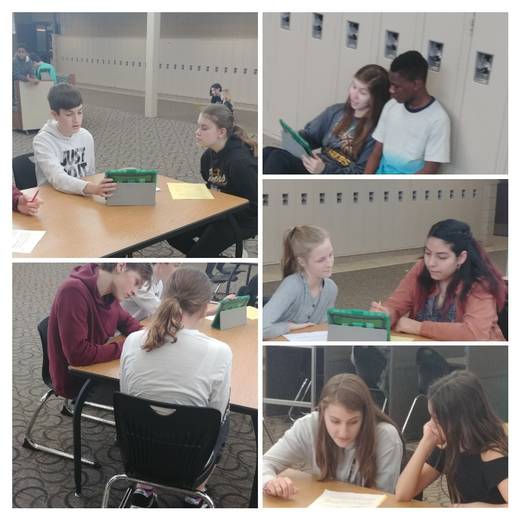 8th Grade Students Helping 6th Grade Students