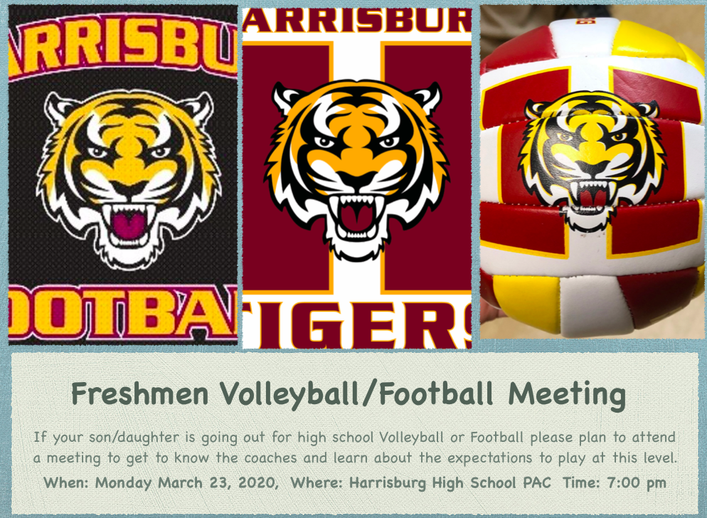 Freshman Volleyball/Football Meeting
