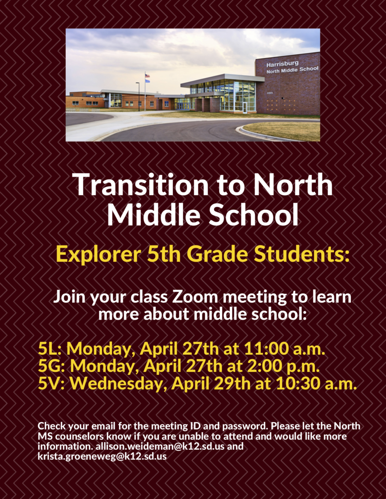 5th Grade Transition Meeting