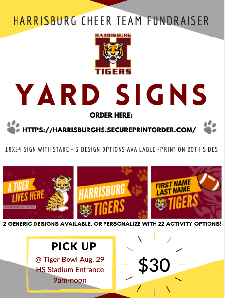 yard signs flyer