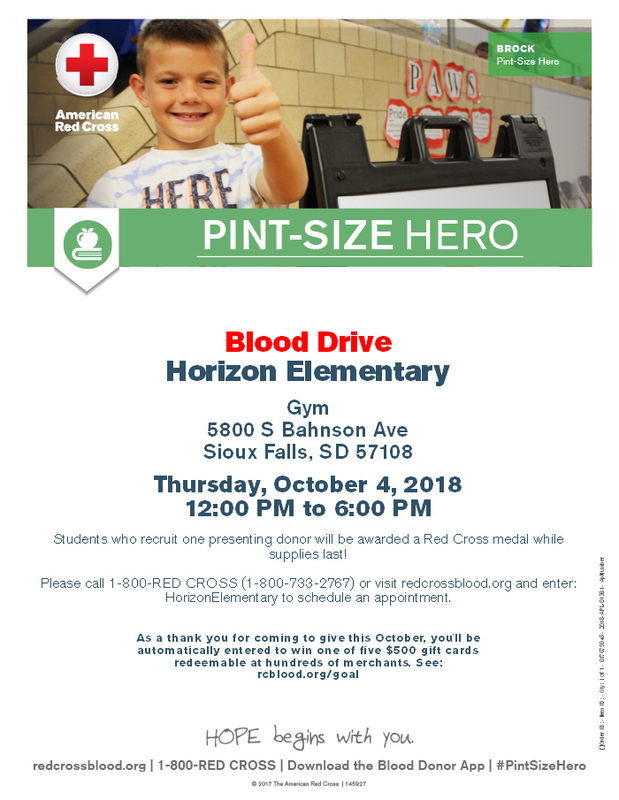 October 4th Red Cross Blood Drive